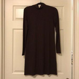 H&M Plum Ribbed Sweather Dress